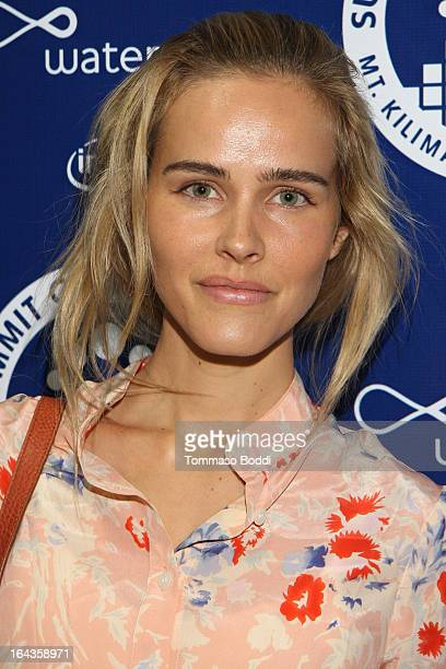 Actress Isabel Lucas attends the Summit On The Summit photo exhibition celebrating World Water Day held at the Siren Studios on March 22 2013 in...
