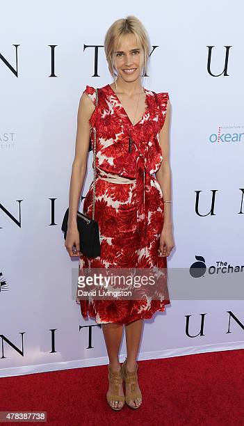 Actress Isabel Lucas attends the world premiere screening of the documentary 'Unity' at the DGA Theater on June 24 2015 in Los Angeles California
