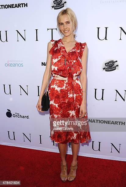 Actress Isabel Lucas attends the world premiere screening of 'Unity' at DGA Theater on June 24 2015 in Los Angeles California