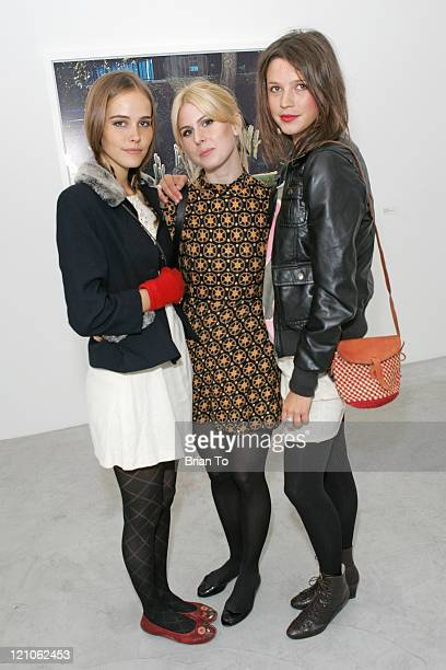 Actress Isabel Lucas Krista Olsen and Alexandra Williams arrive at Artist Tierney Gearon Hosts Dinner Party for 'Explosure When' Exhibition at ACE...