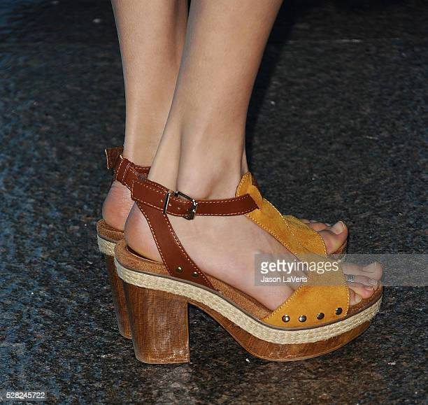 Actress Isabel Lucas shoe detail attends the premiere of 'Love and Friendship' at Directors Guild Of America on May 3 2016 in Los Angeles California