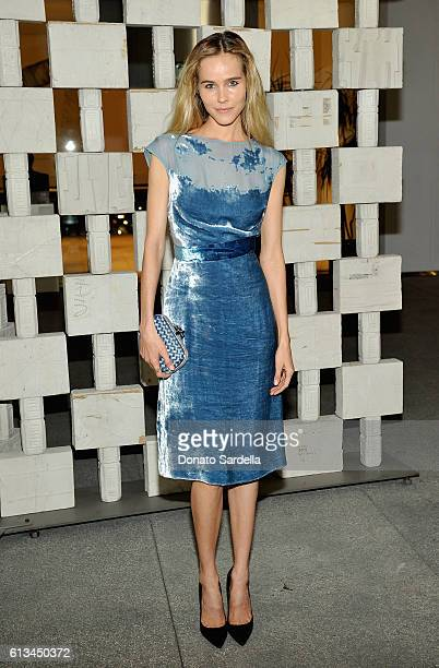 Actress Isabel Lucas wearing Bottega Veneta attends the Hammer Museum 14th Annual Gala In The Garden with generous support from Bottega Veneta at...