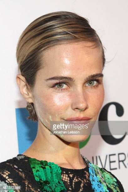 Actress Isabel Lucas wearing Louis Vuitton attends MOCA's 35th Anniversary Gala presented by Louis Vuitton at The Geffen Contemporary at MOCA on...