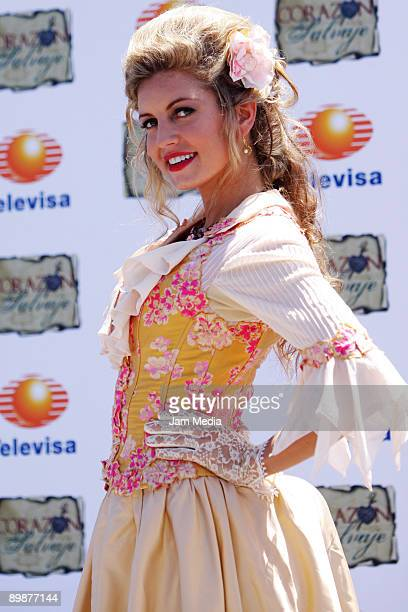 Actress Isabel Madow poses for a portrait duringg the first day of the soap opera 'Corazon Salvaje' shooting on August 17 2009 in Veracruz Mexico