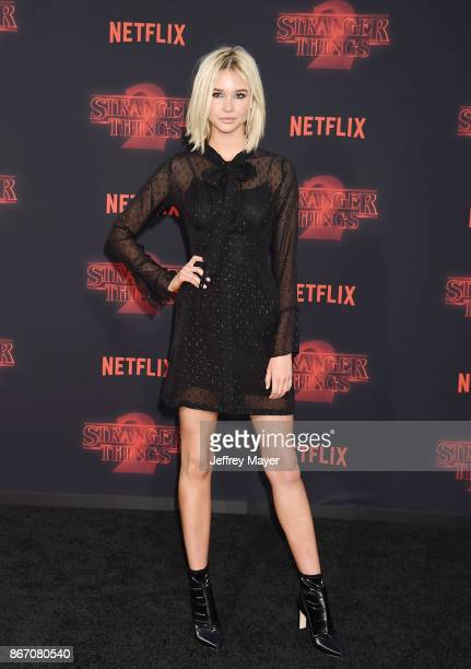Actress Isabel May arrives at the Premiere Of Netflix's 'Stranger Things' Season 2 at Regency Westwood Village Theatre on October 26 2017 in Los...