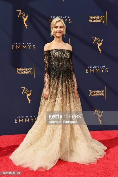 Actress Isabel May attends the 2018 Creative Arts Emmy Awards at Microsoft Theater on September 8 2018 in Los Angeles California