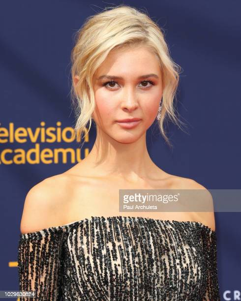 Actress Isabel May attends the 2018 Creative Arts Emmy Awards Day 1 at Microsoft Theater on September 8 2018 in Los Angeles California