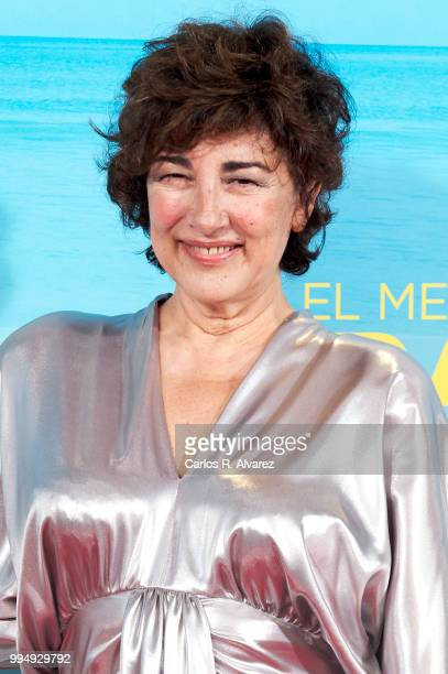 Actress Isabel Ordaz attends 'El Mejor Verano De Mi Vida' premiere at the Capitol cinema on July 9 2018 in Madrid Spain