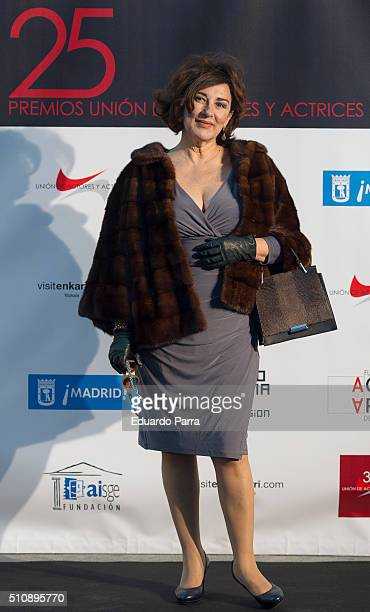 Actress Isabel Ordaz attends the 'Union de Actorres' awards 25th anniversary at the Cibeles Palace on February 17 2016 in Madrid Spain
