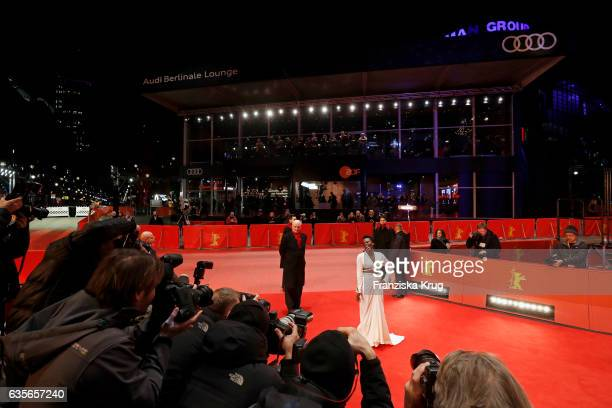 Actress Isabel Zuaa attends the 'Joaquim' premiere during the 67th Berlinale International Film Festival Berlin at Berlinale Palace on February 16...