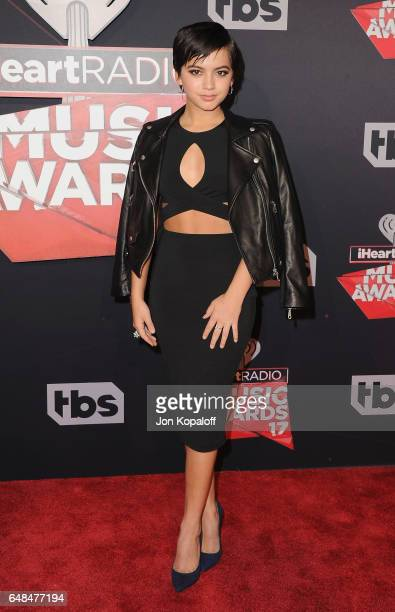 Actress Isabela Moner arrives at the 2017 iHeartRadio Music Awards at The Forum on March 5 2017 in Inglewood California