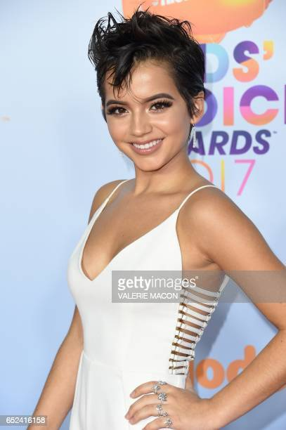Actress Isabela Moner arrives for the 30th Annual Nickelodeon Kids' Choice Awards March 11 at the Galen Center on the University of Southern...