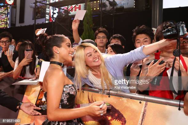 Actress Isabela Moner attends the Japanese premiere of 'Transformers The Last Knight' at TOHO Cinemas Shinjuku on July 20 2017 in Tokyo Japan