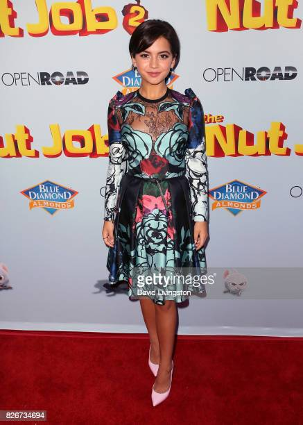 Actress Isabela Moner attends the premiere of Open Road Films' 'The Nut Job 2 Nutty by Nature' at Regal Cinemas LA Live on August 5 2017 in Los...