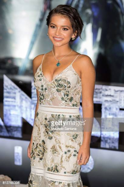 Actress Isabela Moner attends the 'Transformers The Last Knight' Latin America press junket at Hotel Unique on July 11 2017 in Sao Paulo Brazil
