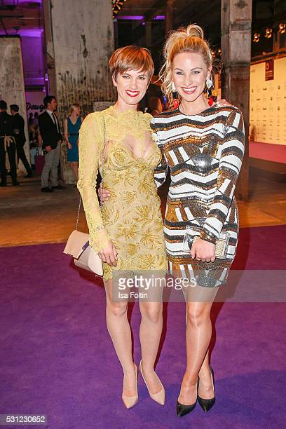 Actress Isabell Horn and moderator Evelyn Weigert during the Duftstars 2016 After Show Party at Kraftwerk Mitte on May 12 2016 in Berlin Germany