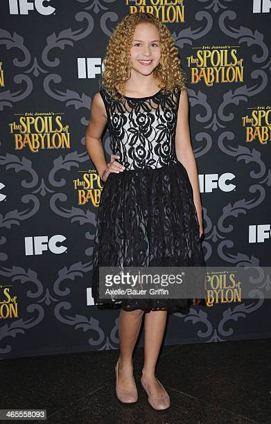 Actress Isabella Acres attends the premiere of IFC's 'The Spoils Of Babylon' at DGA Theater on January 7 2014 in Los Angeles California