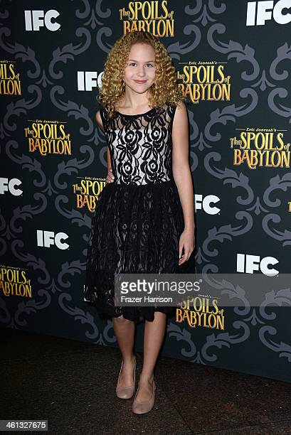 Actress Isabella Acres attends the screening of IFC's The Spoils Of Babylon at DGA Theater on January 7 2014 in Los Angeles California