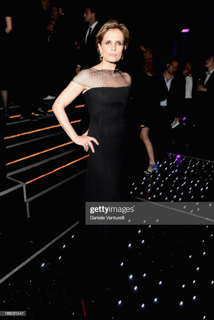 Actress Isabella Ferrari attends the 'Cleopatra' cocktail hosted by Bulgari during The 66th Annual Cannes Film Festival at JW Marriott on May 21, 2013 in Cannes, France.