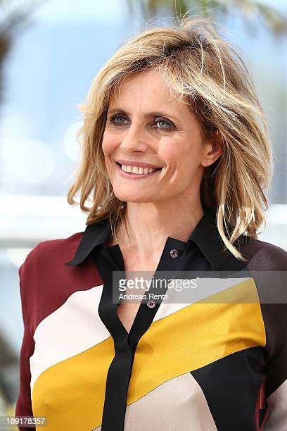 Actress Isabella Ferrari attends the 'La Grande Bellezza' Photocall during The 66th Annual Cannes Film Festival at the Palais des Festivals on May 21...