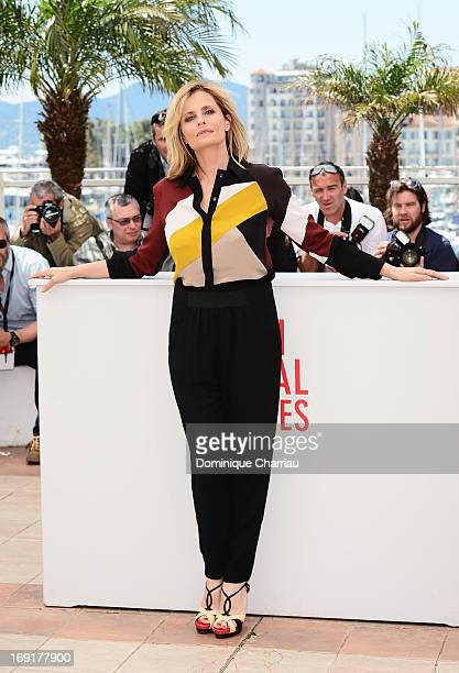 Actress Isabella Ferrari attends the photocall for 'La Grande Bellezza' during the 66th Annual Cannes Film Festival at Palais des Festivals on May 21...