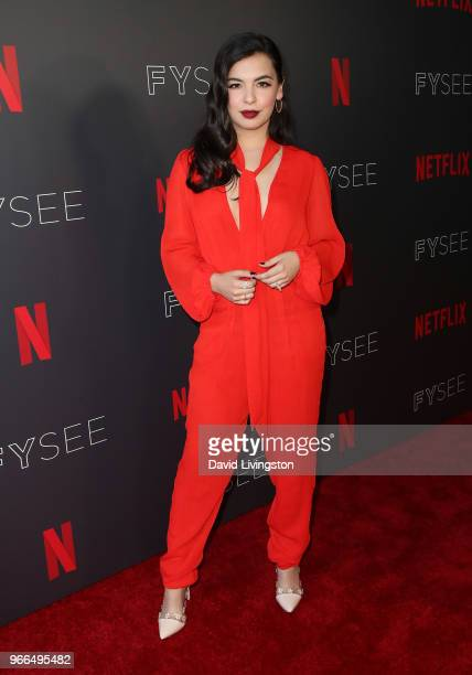 Actress Isabella Gomez attends the #NETFLIXFYSEE event for One Day at a Time at Netflix FYSEE at Raleigh Studios on June 2 2018 in Los Angeles...