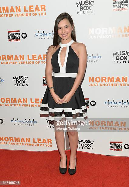 """Actress Isabella Gomez attends the premiere of Music Box Films' """"Norman Lear: Just Another Version Of You"""" at The WGA Theater on July 14, 2016 in..."""