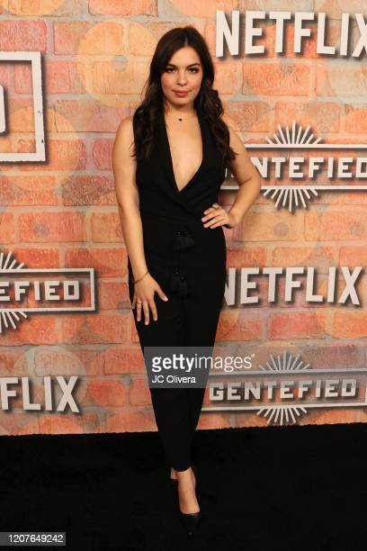 Actress Isabella Gomez attends the premiere of Netflix's Gentefied at Plaza de la Raza on February 20 2020 in Los Angeles California