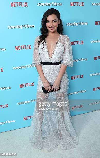 Actress Isabella Gomez attends the premiere of Netflix's One Day at a Time at The London West Hollywood at Beverly Hills on December 14 2016 in West...