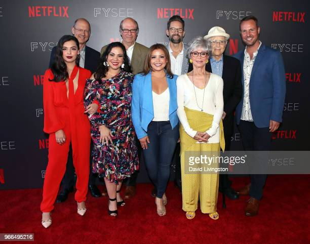 Actress Isabella Gomez executive producers Mike Royce and Gloria Calderon Kellett actors Stephen Tobolowsky Justina Machado Todd Grinnell and Rita...