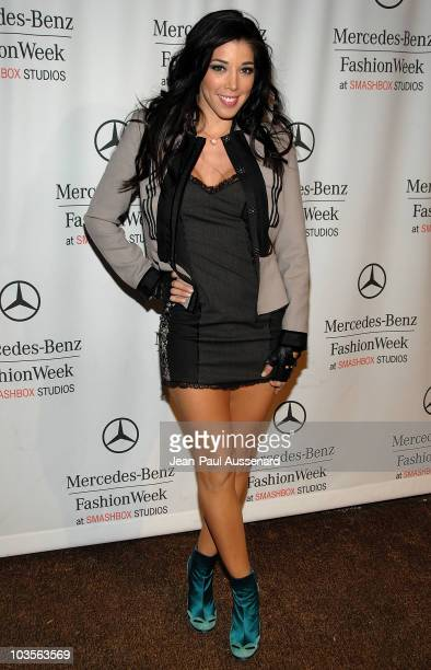 Actress Isabella Grosso arrives at the Spring 2009 Mercedes-Benz Fashion Week held at Smashbox studios on October 15th, 2008 in Culver City,...
