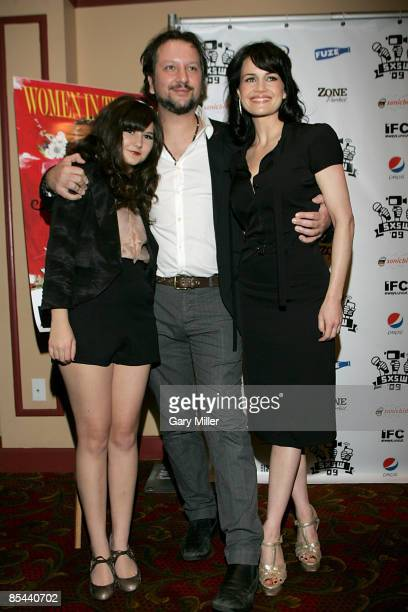 Actress Isabella Gutierrez Director Sebastian Gutierrez and Actress Carla Gugino on the red carpet at the Paramount Theater for the premiere of...