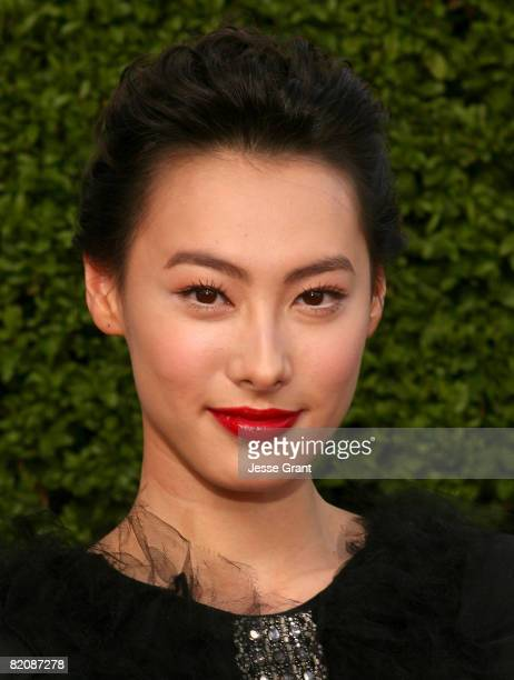 Actress Isabella Leong arrives at the American premiere of The Mummy Tomb Of The Dragon Emperor at the Gibson Amphitheatre on July 26 2008 in...