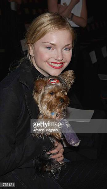 Actress Isabella Miko attends the Luca Luca Fashion Show February 12 2002 in New York City