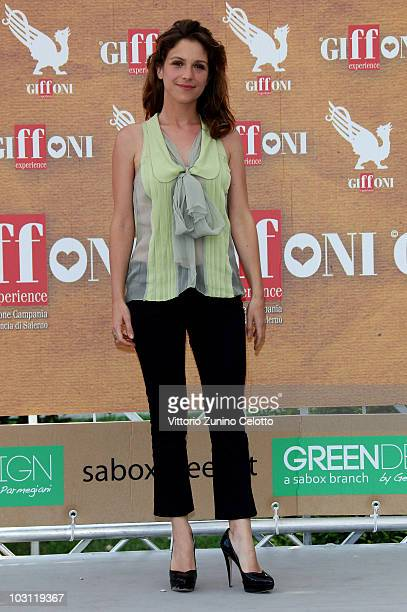 Actress Isabella Ragonese attends a photocall during Giffoni Experience 2010 on July 27 2010 in Giffoni Valle Piana Italy