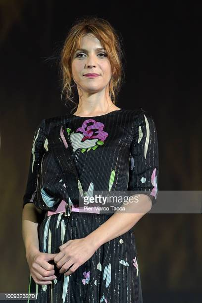 Actress Isabella Ragonese attends a photocall during the 71st Locarno Film Festival on August 1 2018 in Locarno Switzerland