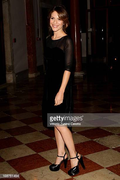 Actress Isabella Ragonese attends the Uomo Vogue Hosts Dinner For Quentin Tarantino during the 67th Venice International Film Festival on August 31...