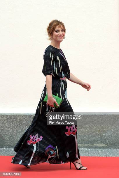 Actress Isabella Ragonese poses during the 71st Locarno Film Festival on August 1 2018 in Locarno Switzerland