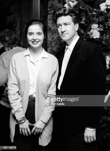 Actress Isabella Rossellini and director David Lynch attend Kennedy Center Honorees Brunch on December 6, 1987 at Ritz Carlton Hotel in Washington,...