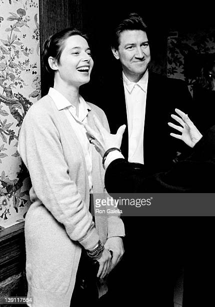 Actress Isabella Rossellini and director David Lynch attend Kennedy Center Honorees Brunch on December 6 1987 at Ritz Carlton Hotel in Washington DC