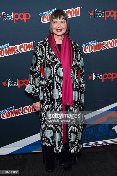 Actress Isabella Rossellini attends Hulu's 'Shut Eye' press room during 2016 New York Comic Con at the Jacob Javitz Center on October 7 2016 in New...