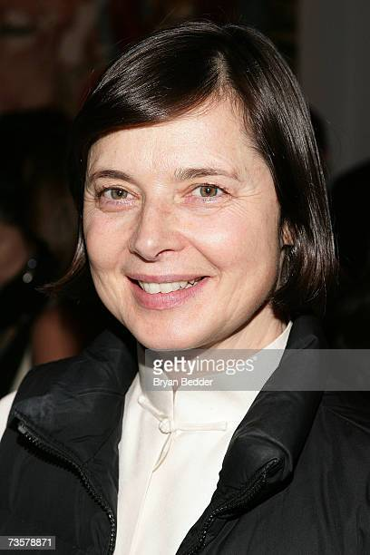 Actress Isabella Rossellini attends the BAM 2007 Spring Gala celebrating the premiere of Edward Scissorhands on March 14 2007 in New York City