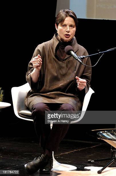 Actress Isabella Rossellini attends the Conversation With Isabella Rossellini during the 18th Annual Hamptons International Film Festival at Bay...