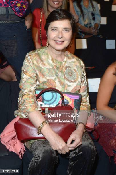 Actress Isabella Rossellini attends the Desigual Spring 2014 fashion show during MercedesBenz Fashion Week at The Theatre at Lincoln Center on...