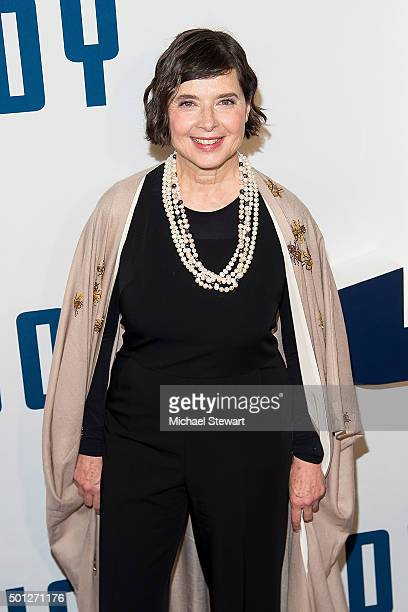 Actress Isabella Rossellini attends the 'Joy' New York Premiere at Ziegfeld Theater on December 13 2015 in New York City