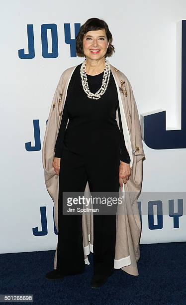 Actress Isabella Rossellini attends the 'Joy' New York premiere at the Ziegfeld Theater on December 13 2015 in New York City