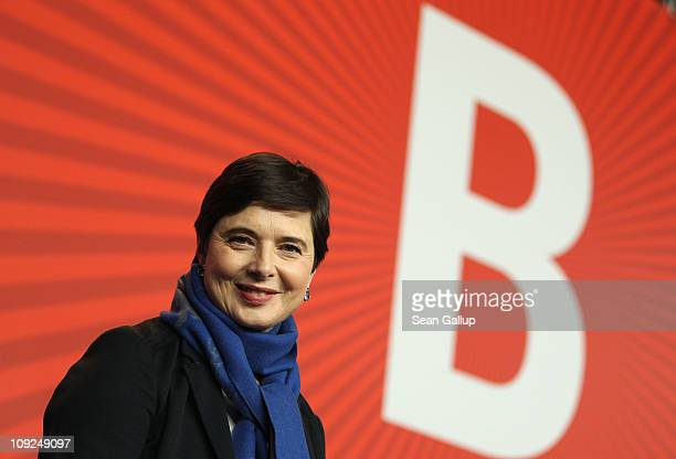 Actress Isabella Rossellini attends the 'Late Bloomers' press conference during day eight of the 61st Berlin International Film Festival at the Grand...