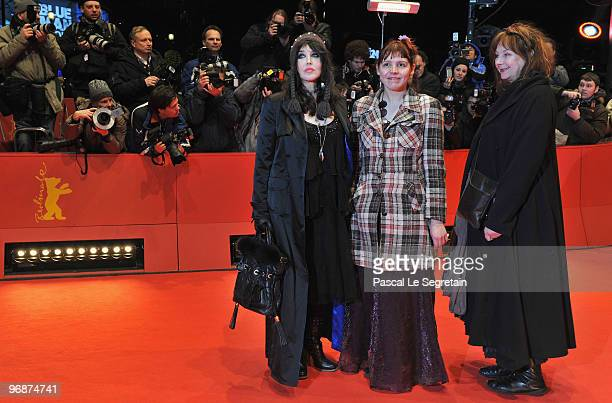 Actress Isabelle Adjani actress Miss Ming and actress Yolande Moreau attend the 'Mammuth' Premiere during day nine of the 60th Berlin International...
