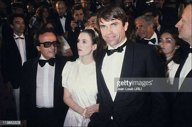 Actress Isabelle Adjani and actor Sam Neil at Cannes Film Festival in Cannes France in May 1981