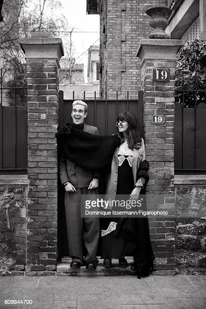 Actress Isabelle Adjani and actor/son GabrielKane DayLewis are photographed for Madame Figaro on April 4 2016 in Paris France GabrielKane Suit and...